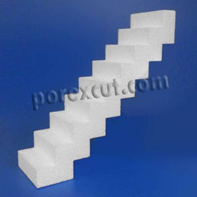 Escalera de porexpan doble corcho blanco