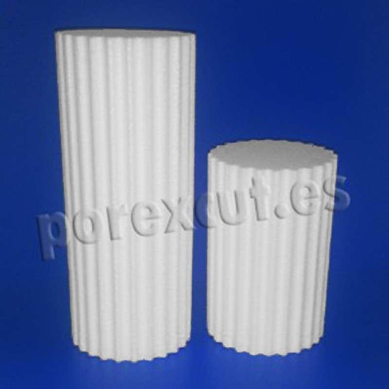 Columnas estrechas de porexpan