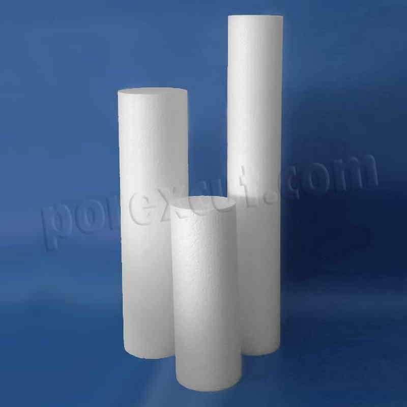 Columnas estrechas lisas de porexpan pra belenes