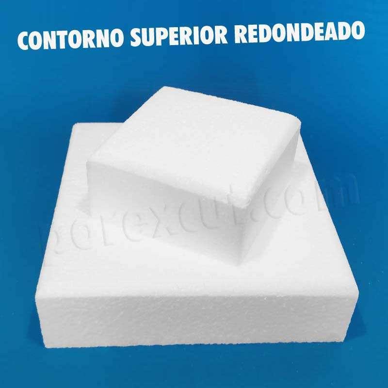 porexpan cuadrado cuadradas base tarta chuches