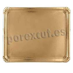 Bandeja oro/blanco 30x37 cm.