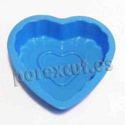 Molde silicona corazon 12 cms