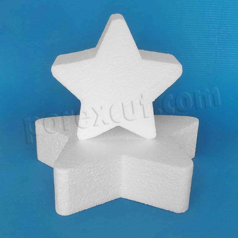 Estrella de porexpan, corcho blanco poliespan poliestireno expandido