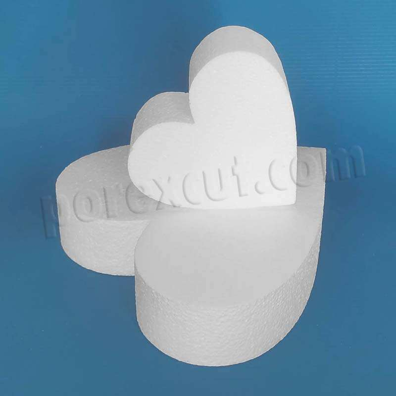 corazon de corcho blanco para decoración poliespan de alta densidad