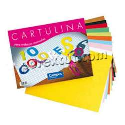 Block cartulina 10 colores