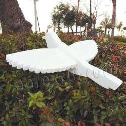 Paloma desmontable de porexpan, corho blanco poliespan