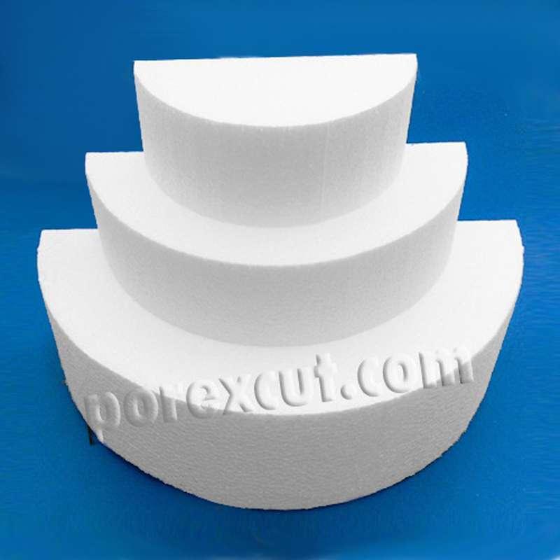 Semicirculo porexpan semi circulo corcho blanco poliespan