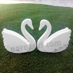 Cisne con alas de porexpan corcho blanco porex poliespan