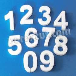 Letras y número pequeños de porexpan poliespan corho blanco porex porexcut