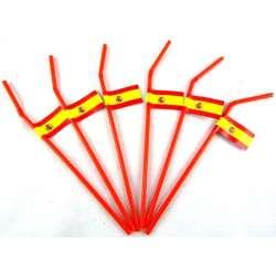 6 pajitas bandera España