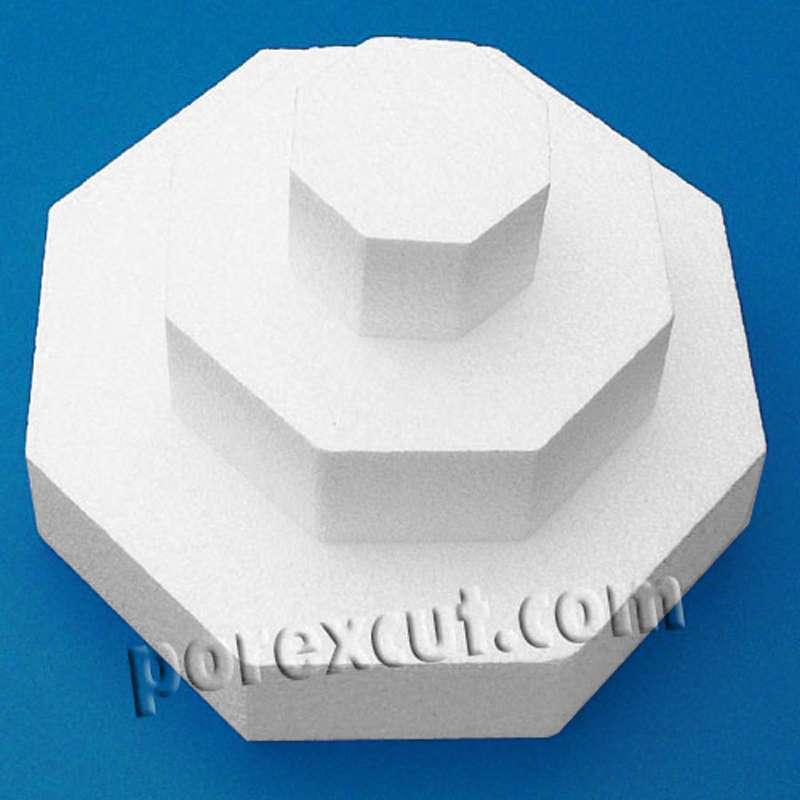 octogono forma porexpan porex corcho blanco poliespan