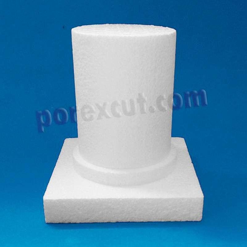 columna capitel de porexpan base corcho poliespan decoracion