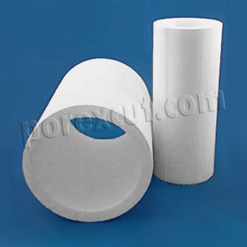 tubo de porexpan, corcho blanco poliespan