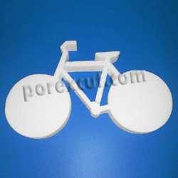 bicicleta de porexpan poliespan corcho blanco
