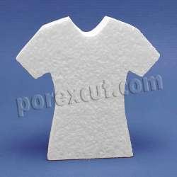 camiseta de mujer entallada de porexpan poliespan