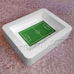 estadio futbol porexpan campo de corcho blanco poliespan