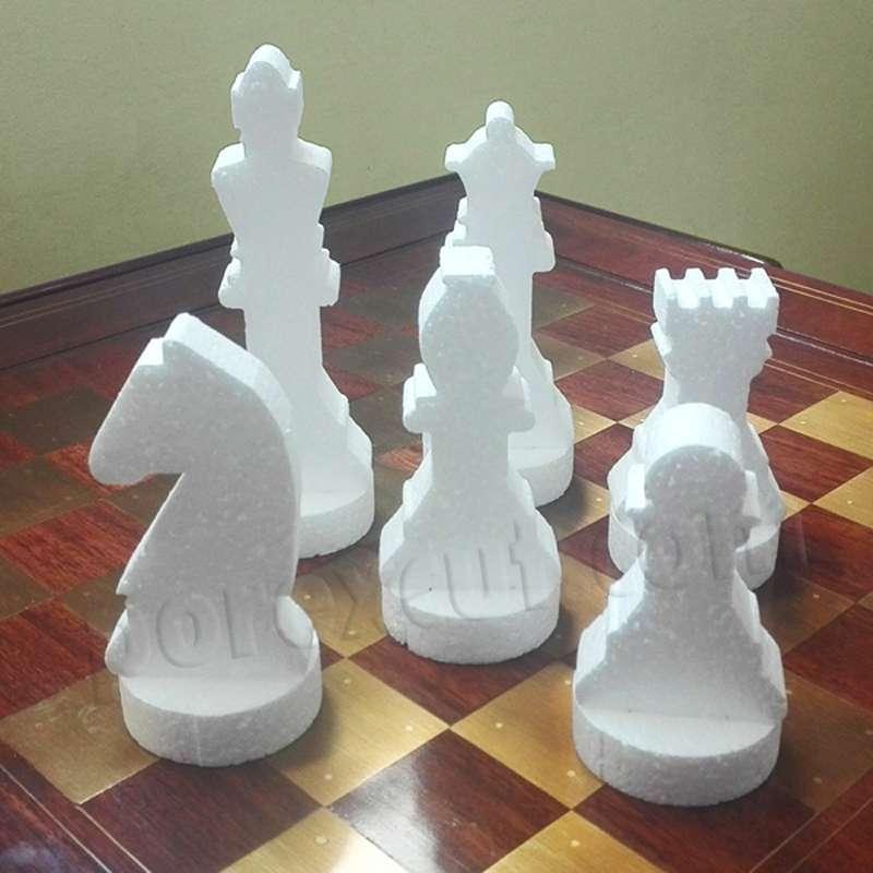 ajedrez de porexpan poliespan corcho blanco