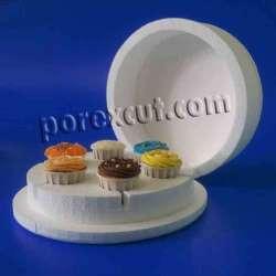 Caja de porexpan para cupcakes madalenas
