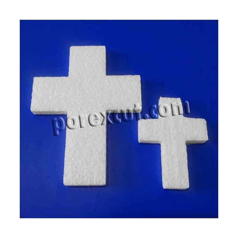 Cruz de porexpan para decoración y colgar