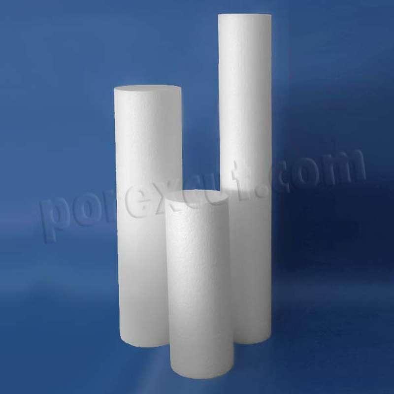 Columna lisa de porexpan poliespan corcho blanco