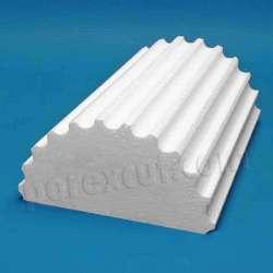Semicolumnas de porexpan poliespan corcho blanco