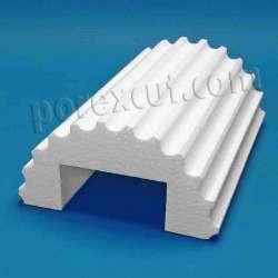 Revestimento columnas de porexpan poliespan corcho blanco