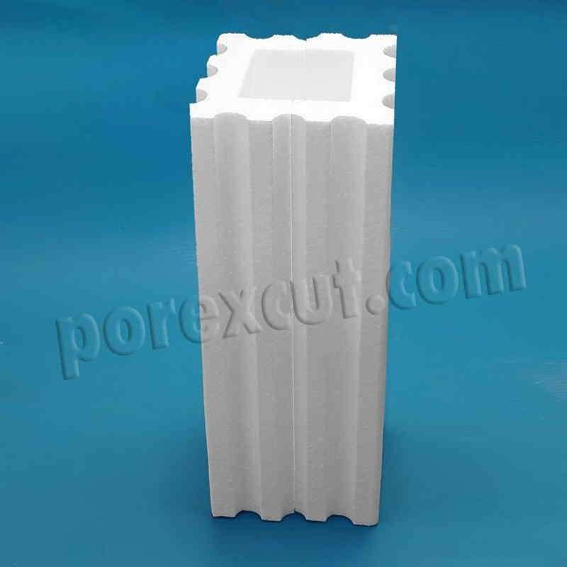 Columna hueca de porexpan poliespan corcho blanco