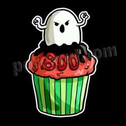 Cupcake silueta halloween 4