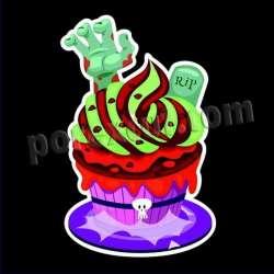 Cupcake halloween silueta 6