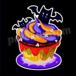 Cupcake silueta halloween 10