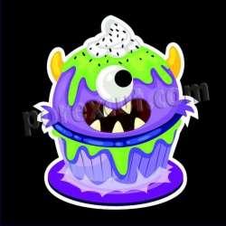 Silueta cupcake halloween 11