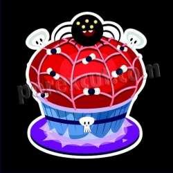 Cupcake silueta halloween 12