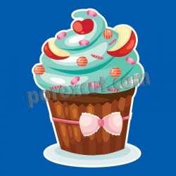 Silueta cupcake porexpan 10