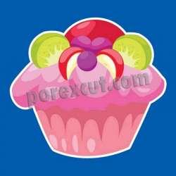 Silueta cupcake porexpan 30