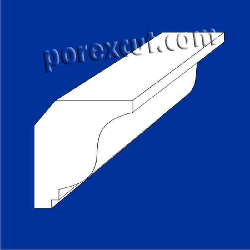 moldura techo de poliestireno expandido porexpan poliespan corcho blanco
