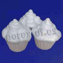 Cupcake de porexpan