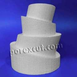 Tupsy, 4 piezas de porexpan poliespan corcho blanco porex