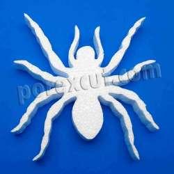 Araña porexpan halloween corcho blanco porex poliespan