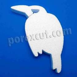 Cuervo de porexpan halloween corcho blanco porex poliespan