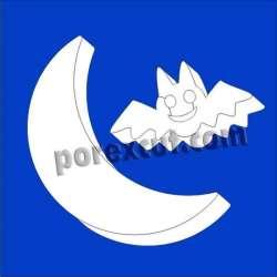 Luna y murciélago  porexpan halloween corcho blanco porex poliespan