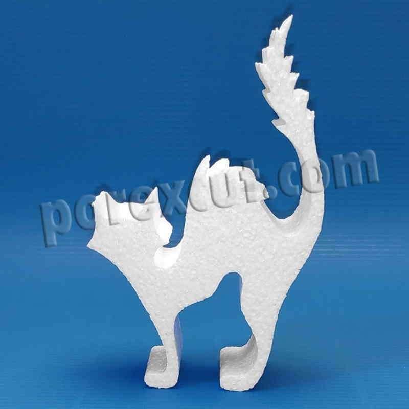gato porexpan halloween corcho blanco porex poliespan
