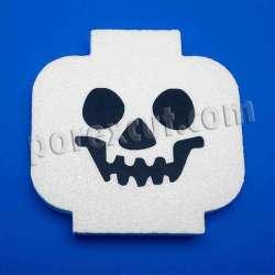 Cabeza de lego porexpan halloween corcho blanco porex poliespan