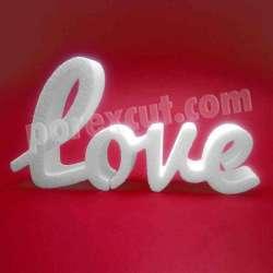 Love texto de porexpan