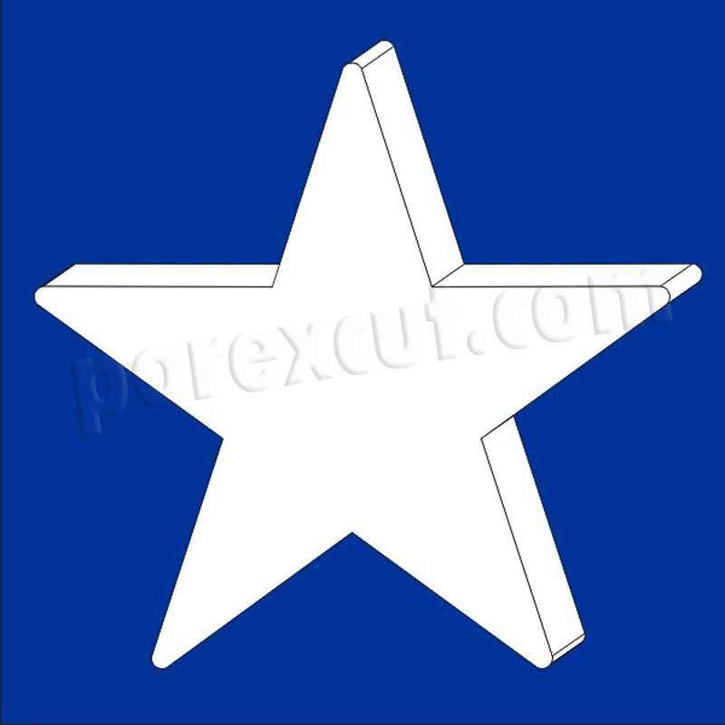 estrella gigante de porexpan poliespan corcho blanco