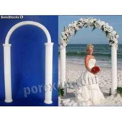 Arco para bodas de porexpan