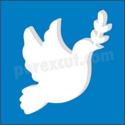 Paloma de la paz de porex