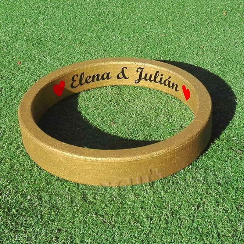 anillo dorado alianza de porexpan