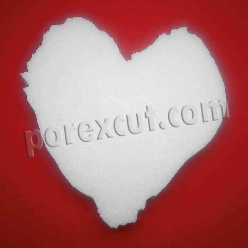Corazon first dates de porexpan corcho blanco