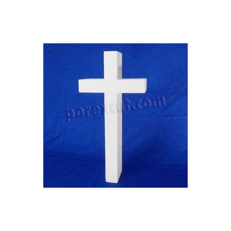 cruz de porexpan poliespan corcho blanco