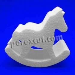 caballo balancin de porexpan poliespan corcho blanco